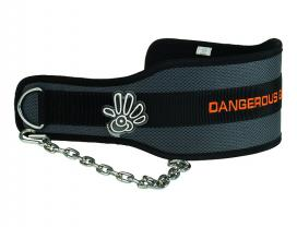 Fitness Synthetic Dip Belt (Dark Grey / Orange)